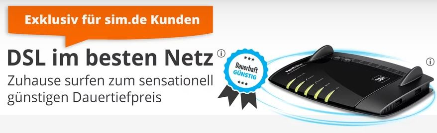 Exklusiv für Drillisch Kunden: 1&1 DSL 250 (250 Mbit/s / 40 Mbit/s) für dauerhafte 29,99€ mtl. (statt 49,99€ mtl.)