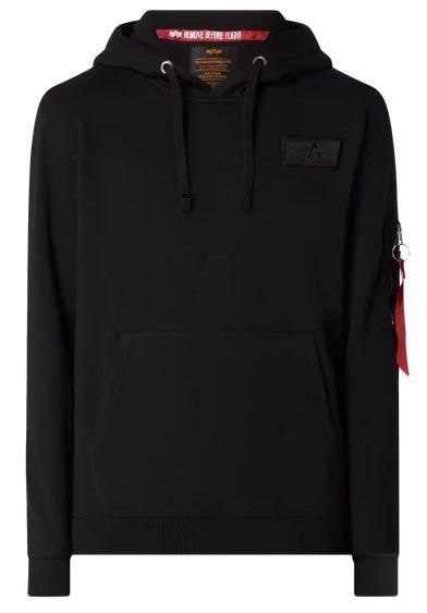 Alpha Industries Red Stripe Hoodie mit Reißverschlusstasche für 39,99€ (statt 63€)   S, M, L