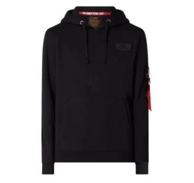 Alpha Industries Red Stripe Hoodie mit Reißverschlusstasche für 39,99€ (statt 63€) – S, M, L