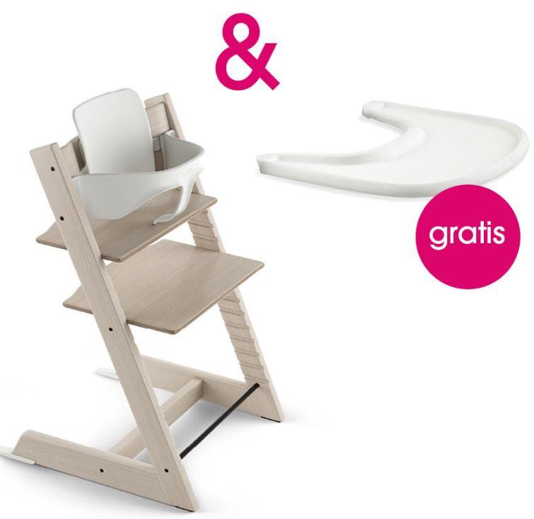 Stokke Tripp Trapp Hochstuhl + Babyset + Tray (Tisch) für 217,59€ (statt 255€) + 17,41€ in Babypunkte