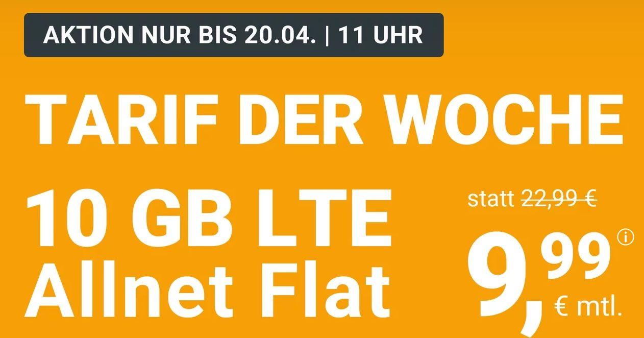 WinSIM Osterspecial: o2 Allnet Flat mit 10GB LTE für 9,99€ (statt 23€) + keine Laufzeit