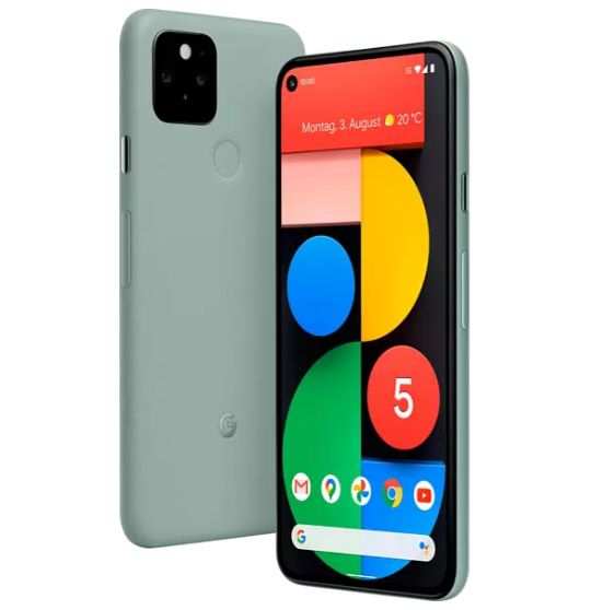 Google Pixel 5 mit 128GB in Sorta Sage für 579€ (statt 629€)