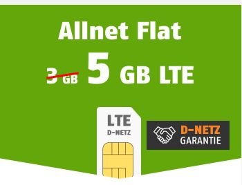 Telekom Flat mit 5GB LTE für 9,99€ mtl. oder mit 10GB/15GB für 14,99€/19,99€ mtl.