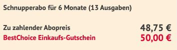 13 Ausgaben Auto Zeitung für 48,75€ + Prämie 50€ BestChoice Gutschein