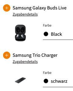 Samsung Galaxy S21 + Buds Live + Trio Charger für 99€ + Telekom Allnet Flat inkl. 10GB LTE für 31,99€ mtl. + 100€ Samsung Pay