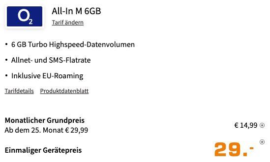 Xiaomi Redmi Note 10 Pro für 29€ + o2 Allnet Flat mit 6GB LTE für 14,99€ mtl.