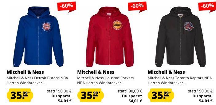 Mitchell & Ness NBA Windbreaker Sale für je 35,99€   z.B. Miami Heat (statt 50€)
