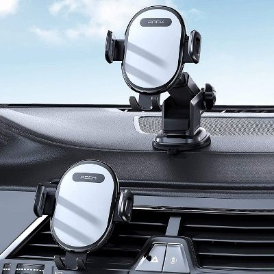 ROCK Handyhalterung mit Saugnapf-Halterung 360° drehbar in Schwarz für 8€ (statt 20€)