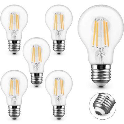 6x KYOTECH LED-Filament Glühbrine E27 4W Warmweiß 2700K in Kolbenform für 8,79€ (statt 16€)