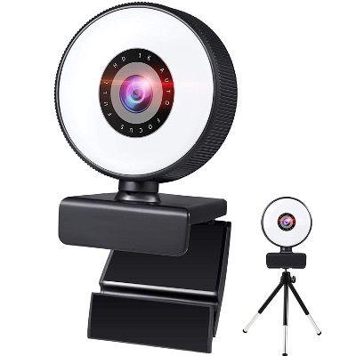 MOEGFY FullHD Stream-Webcam mit integriertem Ringlicht für 14,85€ (statt 33€)