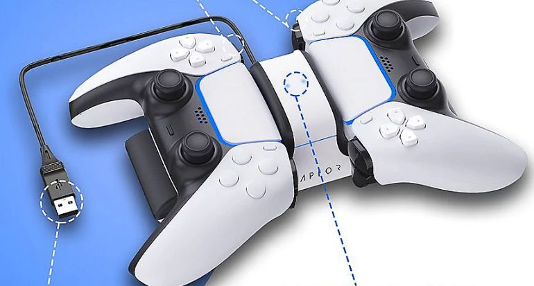 Sony PlayStation DualSense Wireless Controller inkl. Raptor Dual Ladestation für 68,99€ (statt 87€)