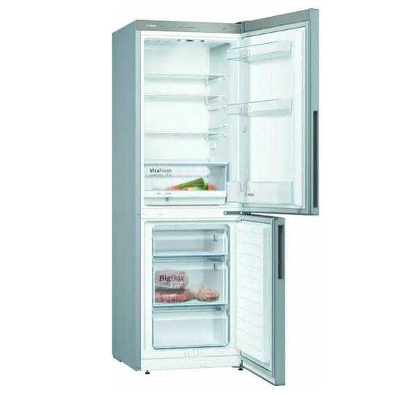 Bosch KGV 332 LEA Kühlgefrierkombi in Edelstahloptik für 402,39€ (statt 480€) + 30€ Eismann Gutschein