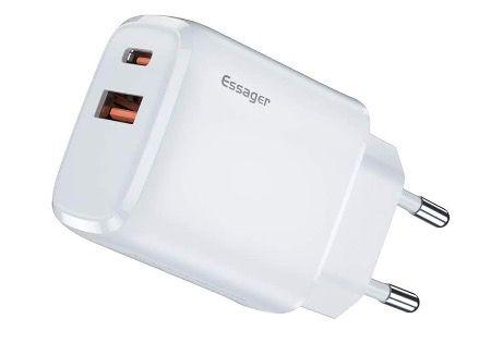 Essager 20W USB C 2 Port Schnellladegerät QC 3.0 für 8,49€ (statt 17€)