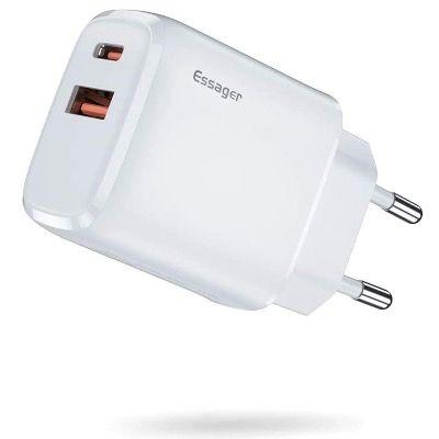 Essager 20W USB-C 2-Port Schnellladegerät QC 3.0 für 7,64€ (statt 17€)