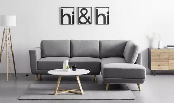Bessagi Home Wohnlandschaft Kyle in Grau für 629,30€ (statt 899€)