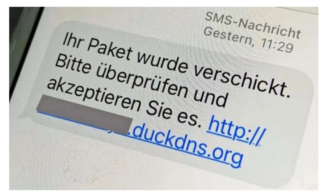 Abzocke durch Paketdienst SMS