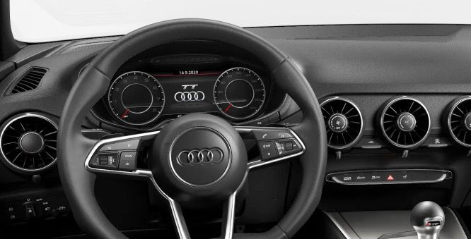 Privat: Audi TT Coupe 45 TFSI S tronic mit 197 PS in Ibisweiß für 269€ mtl.   LF 0,63
