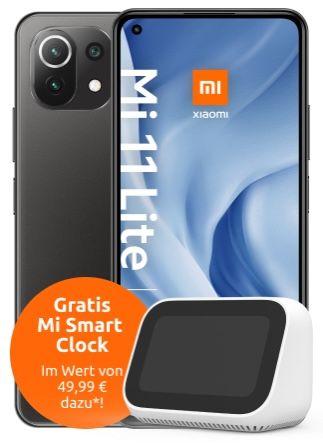 Gigakombi Young Knaller: Xiaomi Mi 11 Lite 5G + Mi Smart Clock für 4,99€ + Vodafone Allnet Flat mit 25GB LTE/5G für 19,99€ mtl.