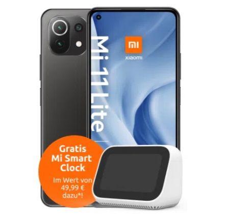 Gigakombi Young-Knaller: Xiaomi Mi 11 Lite 5G + Mi Smart Clock für 4,99€ + Vodafone Allnet-Flat mit 25GB LTE/5G für 19,99€ mtl.