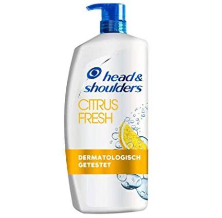 5er Pack Head & Shoulders XXL Citrus Fresh Anti Schuppen Shampoo (je 900ml) für 31,32€ (statt 45€)