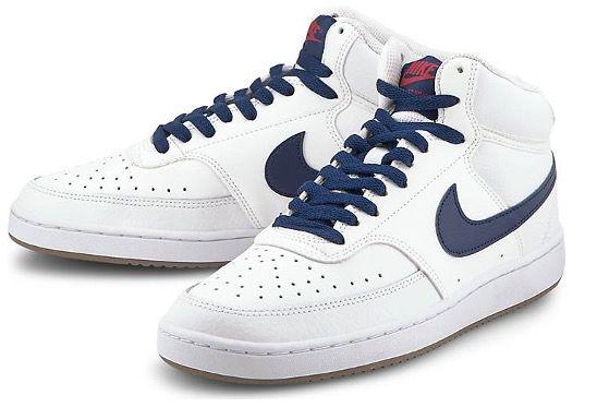 NIKE Court Vision Mid Herren Sneaker in Weiß Blau für 50,97€ (statt 73€)