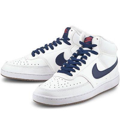 NIKE Court Vision Mid Herren-Sneaker in Weiß-Blau für 47,97€ (statt 64€)
