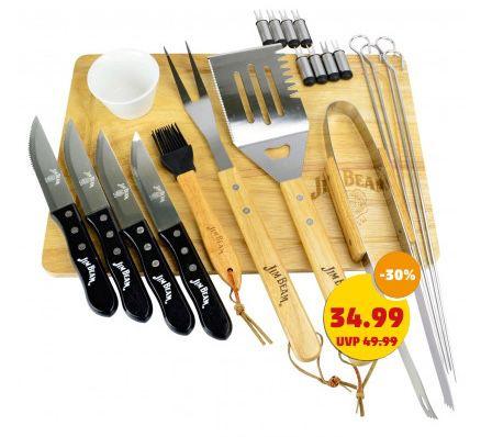 Jim Beam BBQ Grillbesteck mit Messer und Schneidebrett für 39,94€(statt 58€)
