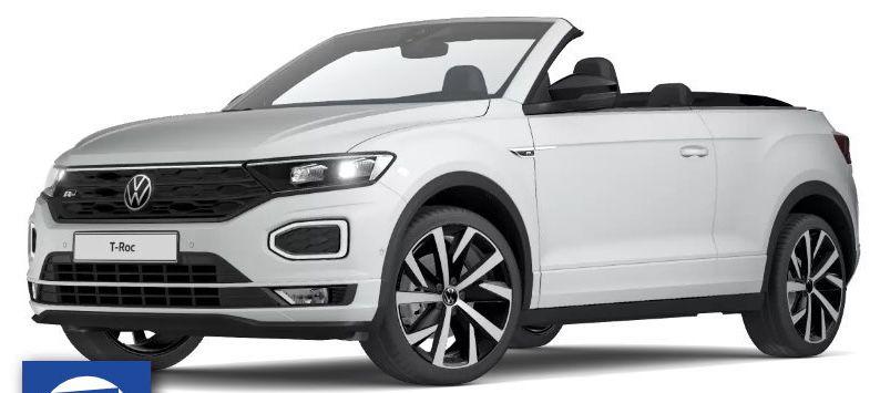Privat: VW T Roc Cabrio R Line mit 150 PS inkl. Alu Winterkompletträder für 299€mtl.