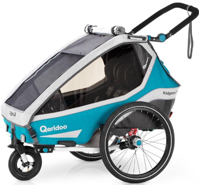 Qeridoo Kidgoo2 (2020) Kinderfahrradanhänger in Petrol für 532,68€ (statt 579€) + 42,62€ in Punkten
