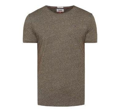 Tommy Hilfiger Jeans T Shirt mit Logo Stickerei in Dunkelgrau oder Olivgrün für 19,99€ (statt 33€)