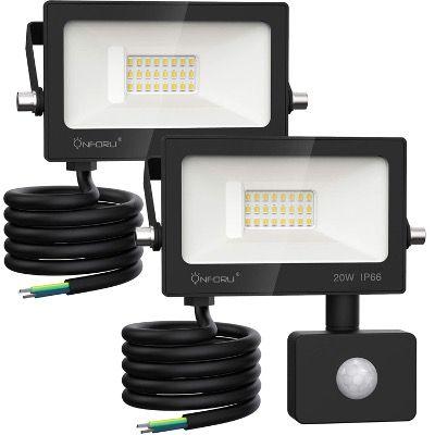 2x Onforu 20W LED Strahler mit Bewegungsmelder 2000LM und IP66 wasserdicht für 15,99€ (statt 32€)