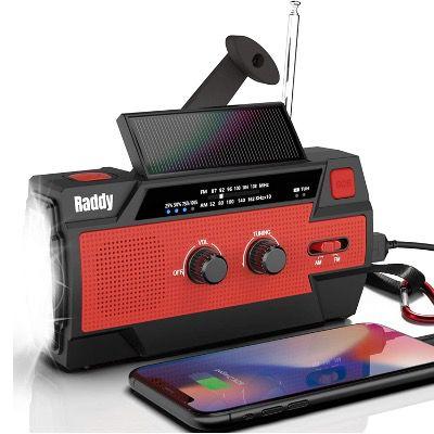 Raddy Kurbelradio SW3 mit Solarpanel und USB Handyladefunktion für 25,19€ (statt 42€)