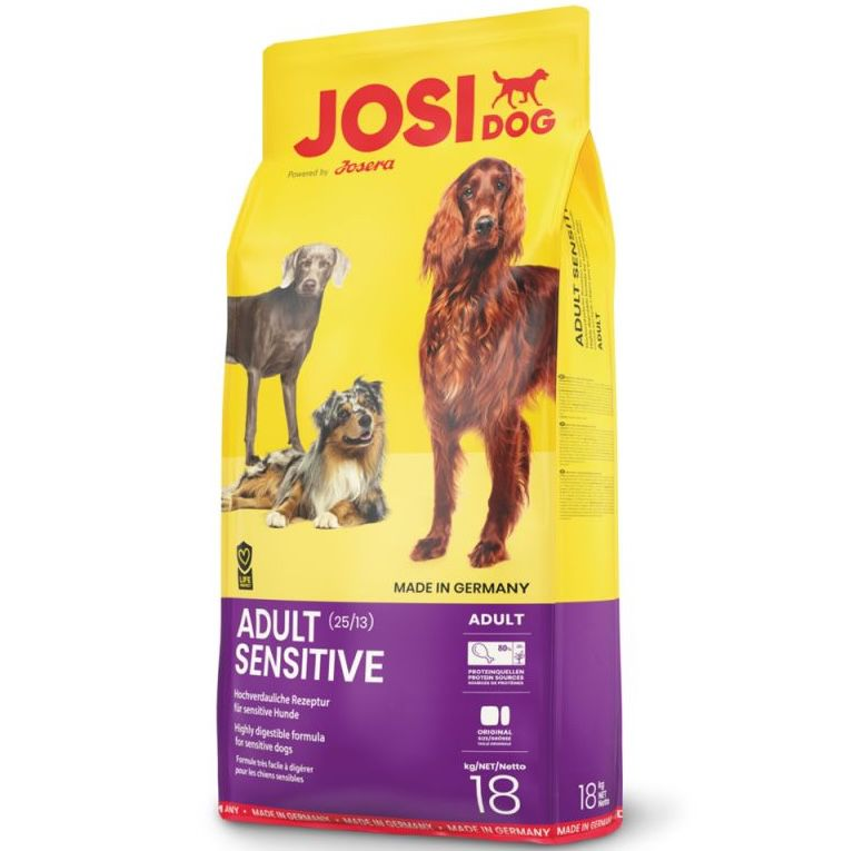 18kg JosiDog Adult Sensitive Hundefutter für 29€ (statt 34€)   10% KwK Rabatt möglich