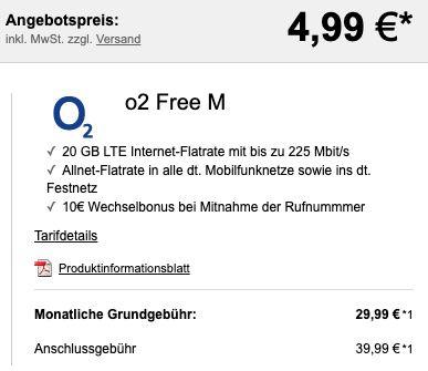 Sony Xperia 5 II für 4,99€ + o2 Allnet Flat mit 20GB LTE für 29,99€ mtl.