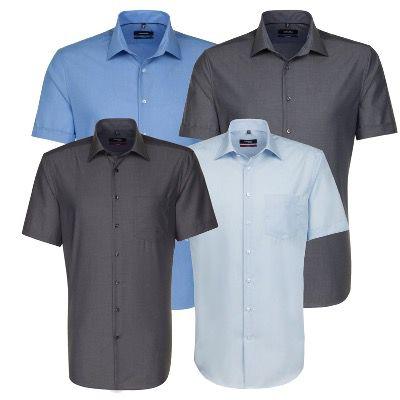 Seidensticker bügelfreies Business Hemd Kurzarm mit Kentkragen für 19,95€ (statt 30€)
