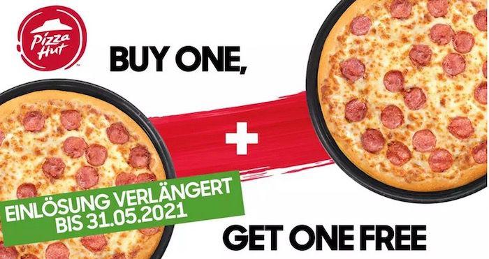 Pizza Hut: 2 für 1 Pizza Coupon für 0,80€   verlängert bis 31. Mai