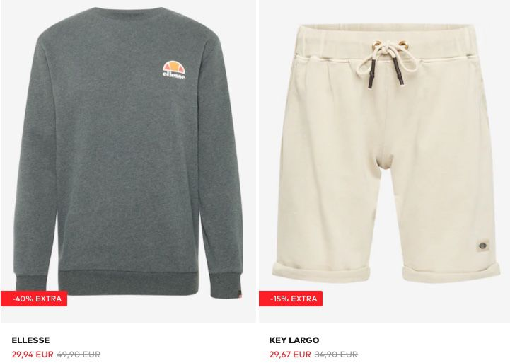 About You Summer Sale mit bis  40%   z.B. ellesse Pullover für 29,94€ (statt 39€)