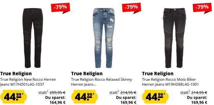 True Religion Mega Sale bis  80% + 10% Gutschein   z.B. Crew Neck Sweatshirt für 31,49€ (statt 59€)