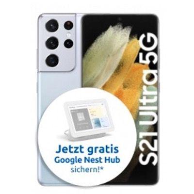 Samsung Galaxy S21 Ultra 5G 256GB für 249€ + Vodafone Allnet-Flat 40GB LTE/5G für 44,99€ mtl. + Google Nest Hub gratis