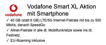 Samsung Galaxy S21 Ultra 5G 256GB für 249€ + Vodafone Allnet Flat 40GB LTE/5G für 44,99€ mtl. + Google Nest Hub gratis