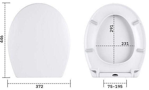 AUTLEAD Toilettendeckel DBTS02TY mit Absenkautomatik und Schnellverschluss für 19,99€ (statt 40€)
