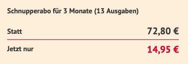 13 Ausgaben Die Zeit für direkt nur 14,95€ (statt 73€)