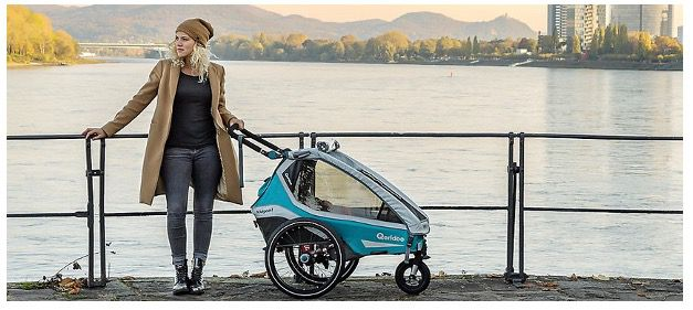 Qeridoo Kidgoo2 Sport (2020) Kinderfahrradanhänger in Petrol für 539,99€ (statt 593€)