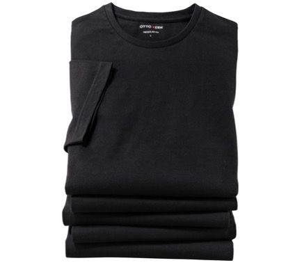 5er Pack OTTO KERN T Shirts in Schwarz oder Weiß mit Rundhals bis 4XL für 29,49€ (statt 40€)