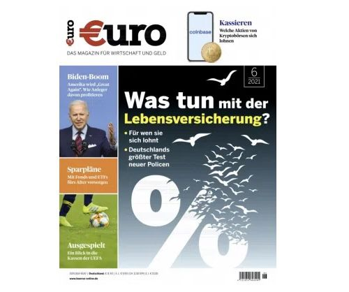 """12 Monate """"Euro"""" für 106,80€ + Prämie: 95€ Scheck"""