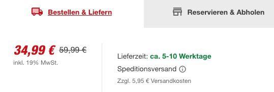 Schwerlastregal in 180x100x60cm mit je max. 200kg Belastbarkeit für 40,94€ (statt 50€)