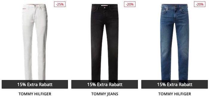 Luxusmarken Jeans bis zu 43% Rabatt + 15% Extra Rabatt   z.B. Tommy Hilfiger Jeans ab 63,74€