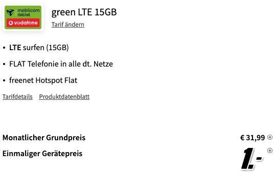 Xiaomi Mi 11 5G 256GB für 1€ + Vodafone Allnet Flat inkl. 15GB LTE für 31,99€ mtl.