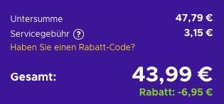 50€ Nintendo eShop Card für 43,99€