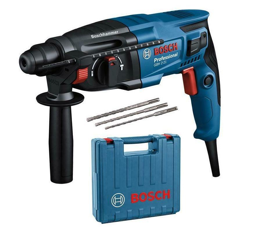 Bosch Professional GBH 2-21 Bohrhammer inkl. 3 Bohrer + Koffer ab 89€ (statt 105€)